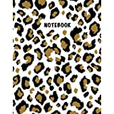 Notebook: Composition Book, Journal (8.5 x 11 inches, 120 Pages, Lined Paper) Leopard Print Design-Classic
