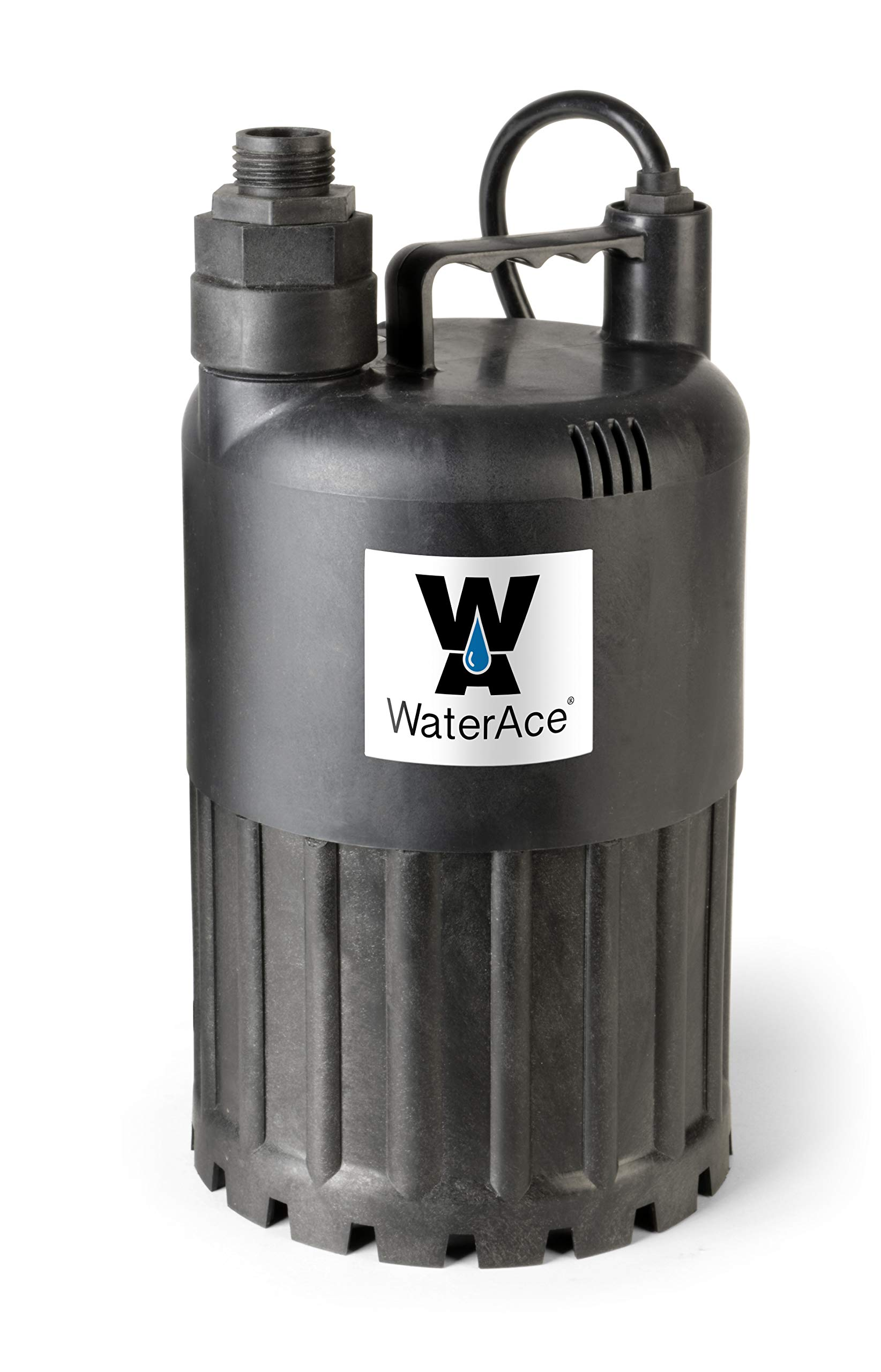 WaterAce WA80UP Submersible Utility Pump, 1/2 HP, Black by WaterAce