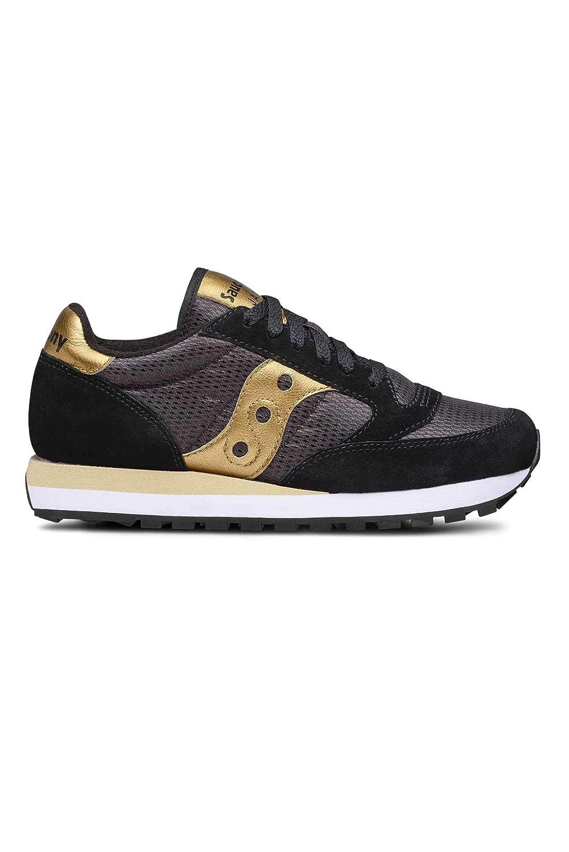 Saucony Schuhe Frau niedrige Turnschuhe S1044-521 Jazz ORIGINAL Größe 38.5 Schwarz Gold