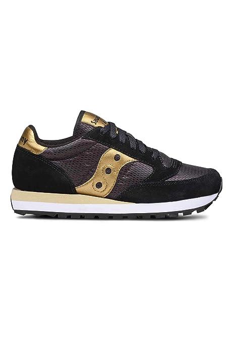 size 40 60849 b47da Saucony Scarpe Donna Sneakers Basse S1044-521 Jazz Original Taglia 38  Nero-Oro  Amazon.it  Scarpe e borse