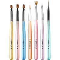 TOMICCA Gel Nail Brush Set, Professional Nail Art Pull Liner Brushes for DIY