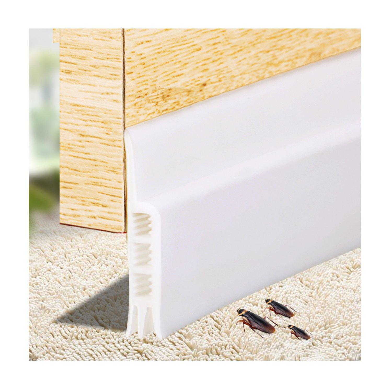 Door Bottom Seals, Door Sweep Soundproofing Weather Stripping, Under Door Draft Stopper for Doors and Windows Silicone Adhesive Strips (2'' x 79'')