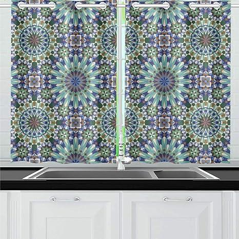 Amazing Moroccan Style Mosaic Tile Kitchen Curtains Window Curtain Interior Design Ideas Clesiryabchikinfo