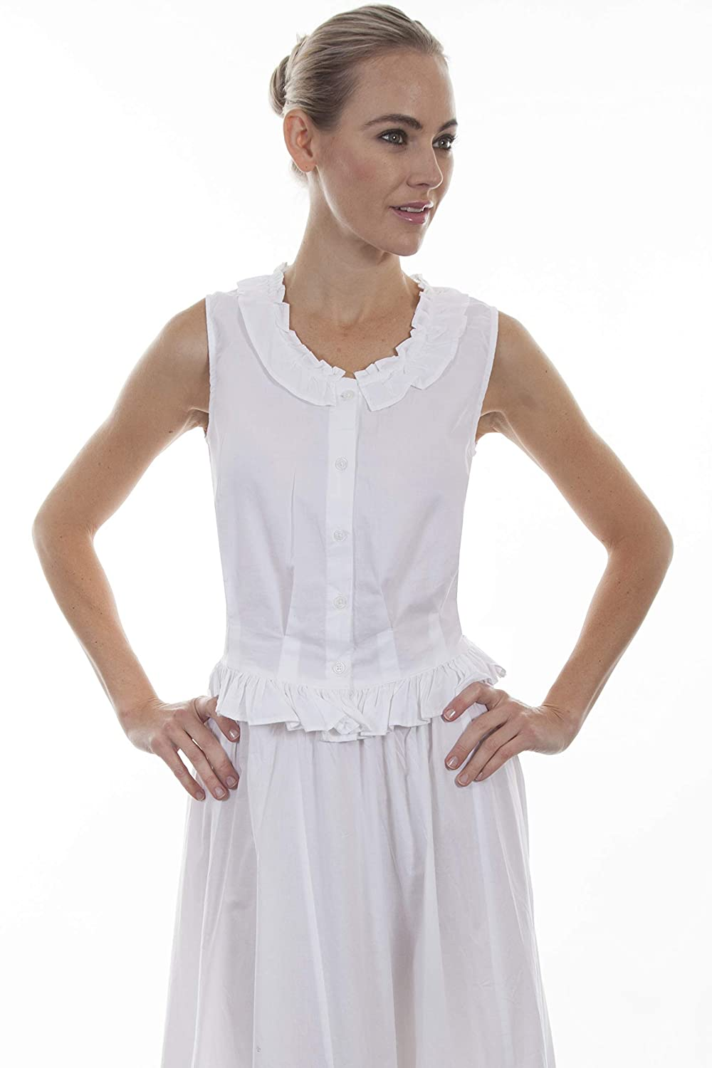 Scully Pretty Camisole with Ruffles White