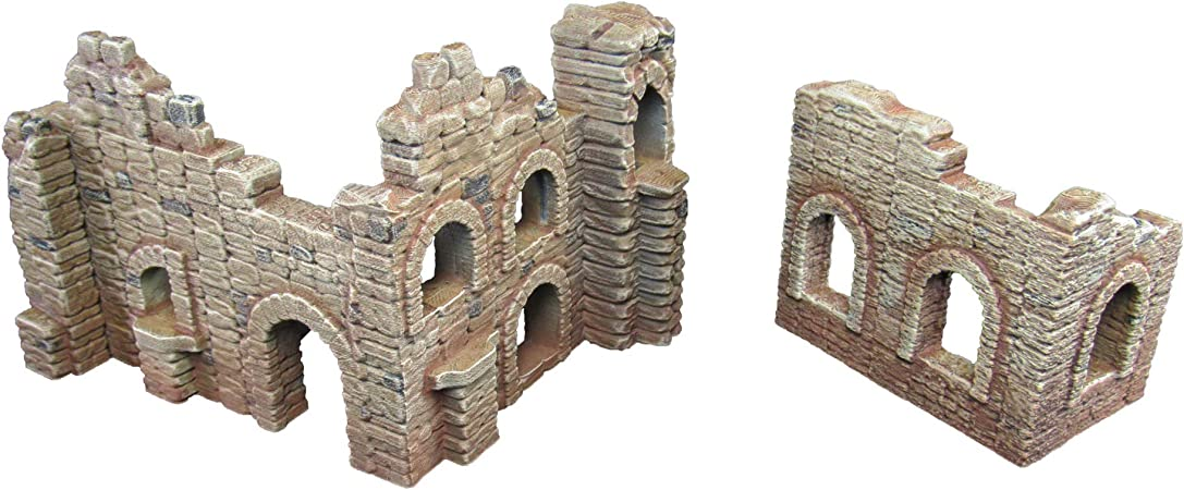Battle Ruined Walls, Terrain Scenery for Tabletop 28mm Miniatures ...