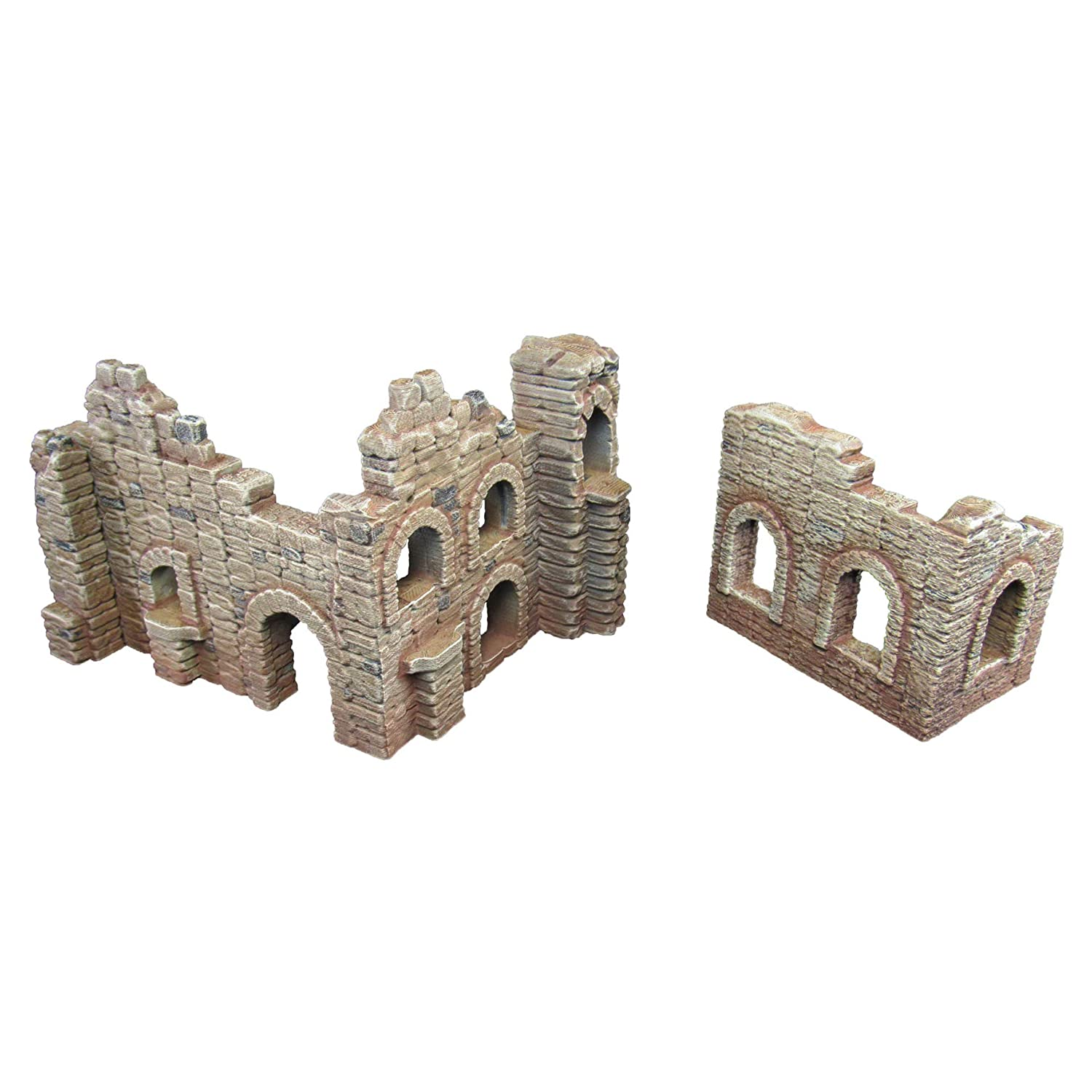 EnderToys Battle Ruined Walls, Terrain Scenery for Tabletop 28mm Miniatures Wargame, 3D Printed and Paintable