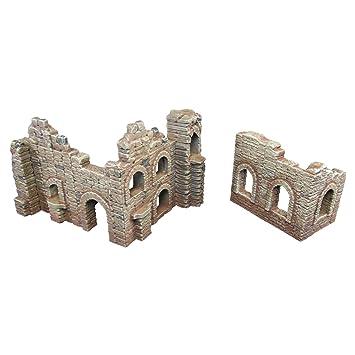 Battle Ruined Walls, Terrain Scenery for Tabletop 28mm