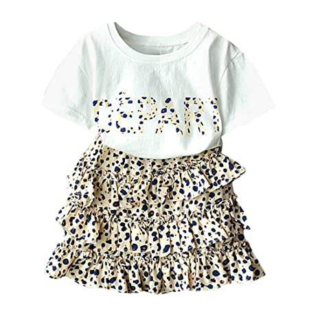 Kids Baby Girl Leopard Sleeveless Dress Tutu O-Neck Party Dresses Outfit Clothes