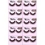 Anself 10 Paar Falsche Künstliche Wimpern Dicke Lange Eyelashes Pure Handgemacht