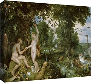 ArtWall Pieter Bruegel 'The Garden of Eden with The Fall of Man' Gallery Wrapped Canvas Art, 12 by 18-Inch