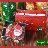 Vaxiuja Kit de Navidad, Caja, Paquete de Que Incluye Santa Claus + árbol de Navidad 2 Toallas de…