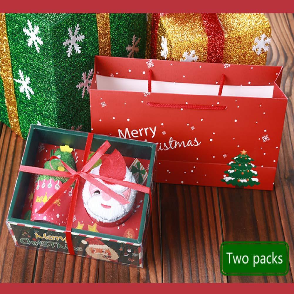 Vaxiuja Kit de Navidad, Caja, Paquete de Que Incluye Santa Claus + árbol de