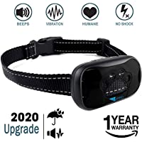 ZENNO No Bark Collar for Small, Medium, Large Dogs - Upgrade Stop Barking Collar for Dogs with Vibration and Sound - Humane and Safe Anti Bark Collar for Dogs
