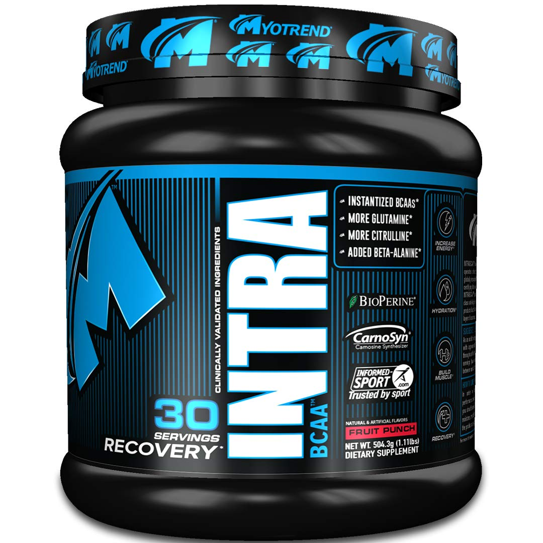 INTRABCAA – Fruit Punch 504g Training Energy, Strength, Recovery, and Hydration Transparent Label