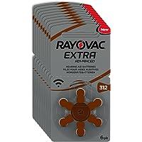 60 x RAYOVAC extra geavanceerde gehoorapparaatbatterijen met Active Core 312-technologie