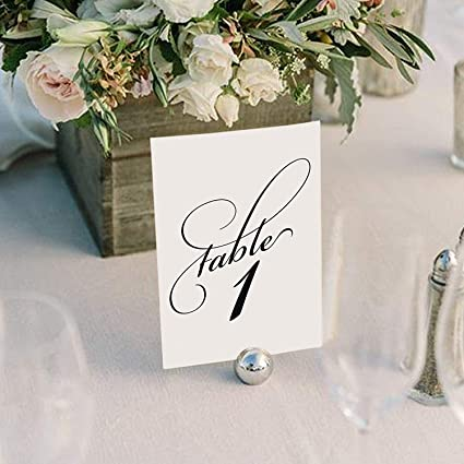 amazon com black wedding table numbers assorted color options
