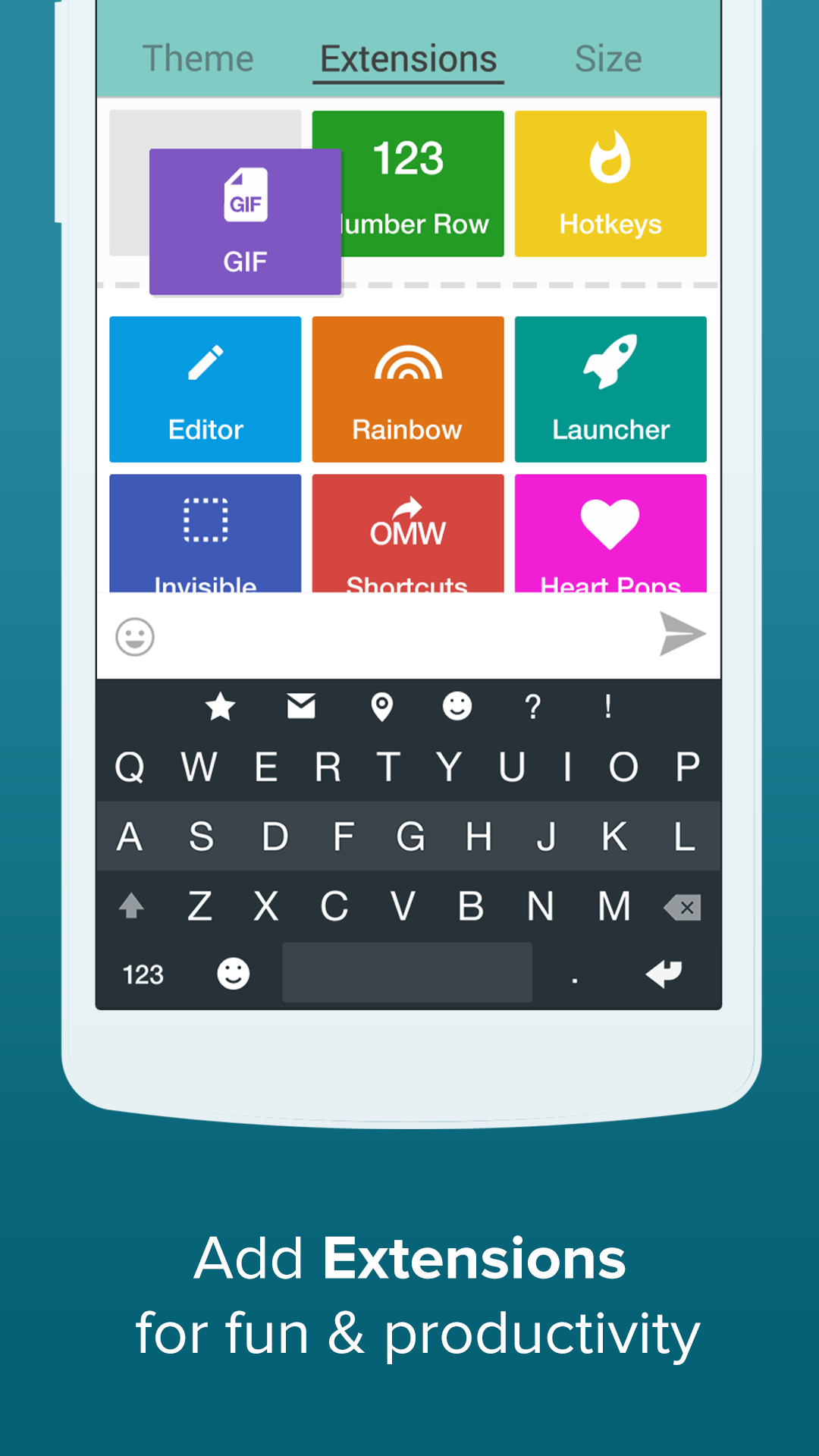 fleksy invisible keyboard