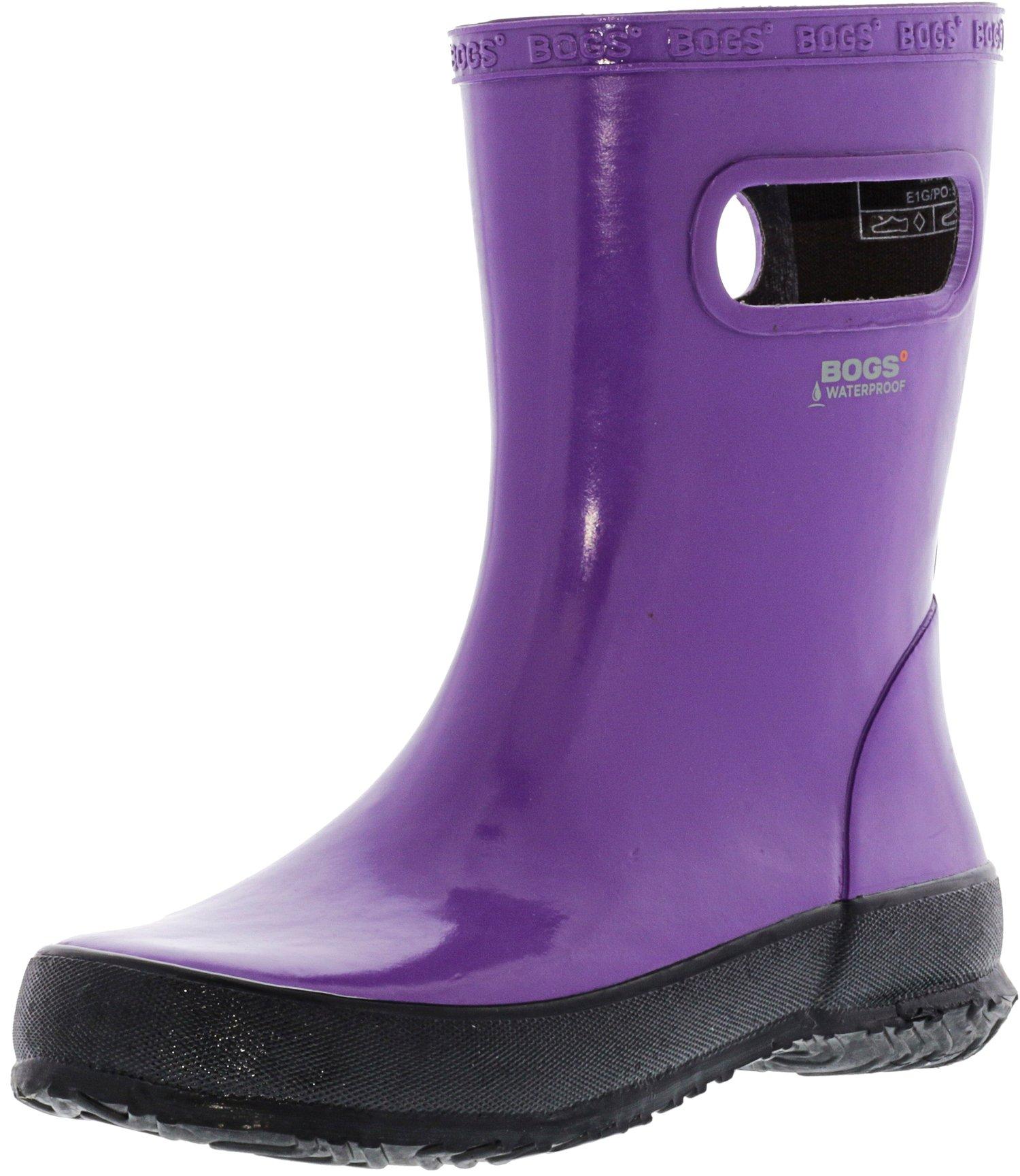 Bogs Skipper Solid Purple Mid-Calf Rubber Rain Boot - 2M