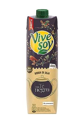 Vivesoy Soja y Té Negro Bebida 100% Vegetal de Soja Seleccionada - 1 l