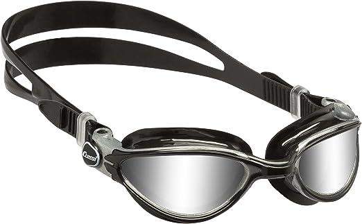 Clip Stringinaso Unisex Adulto Cressi Thunder Occhialini Premium da Nuoto Nero//Argento Nero//Lenti Specchiate Clear//Blu