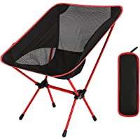 Diswoe Camping Chair Lightweight Folding Chair with Carry Bag for Hiking,Fishing,Beach Heavy Duty 240 lb Capacity