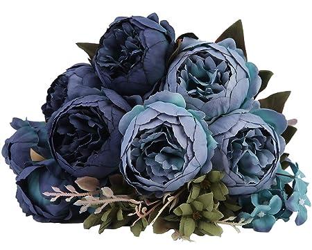 Kimura - Ramo de Flores Artificiales de Seda para decoración del hogar, jardín, Boda, Fiesta, decoración: Amazon.es: Hogar