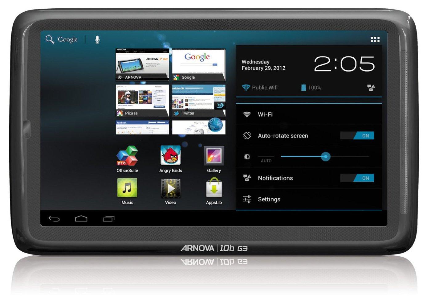 amazon com arnova 10b g3 4gb 10 inch ics tablet black computers rh amazon com