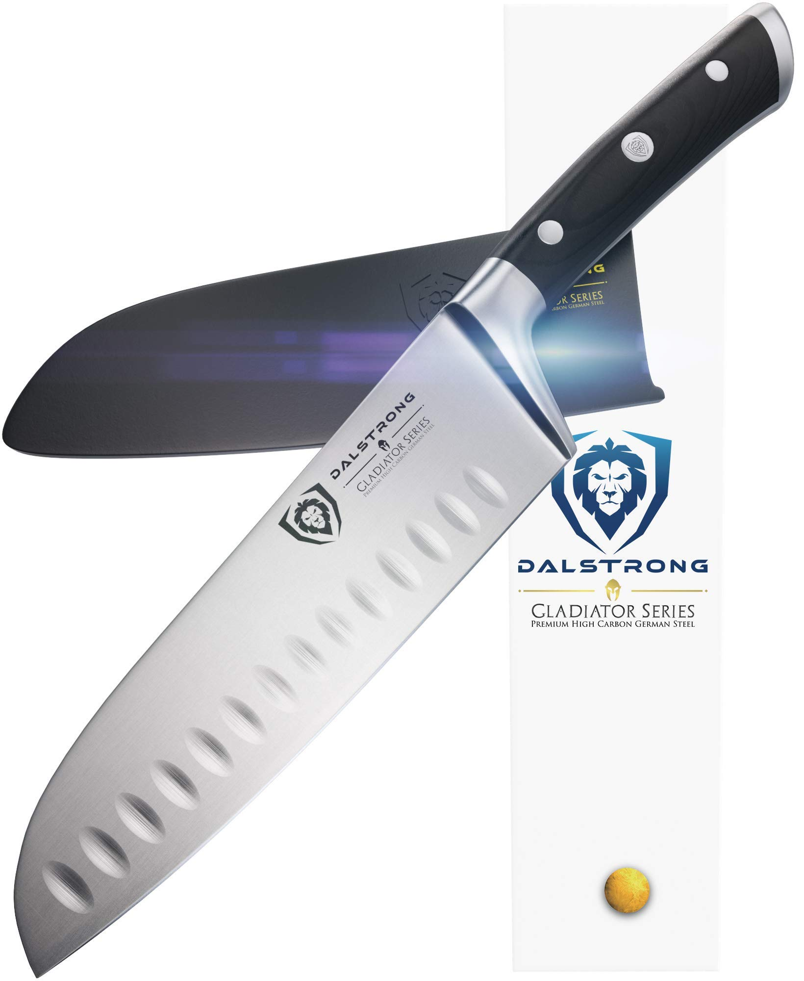 DALSTRONG Santoku Knife - Gladiator Series - German HC Steel - 7'' (180mm) by Dalstrong