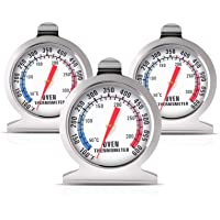 3 Pack Oven Thermometer 50-300°C/100-600°F, Oven Grill Fry Chef Smoker Thermometer Instant Read Stainless Steel…