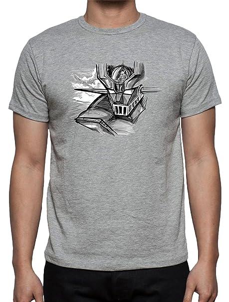 The Fan Tee Camiseta de Mazinger Z Anime Manga Dibujos Animados Hombre aTHiZkg2k