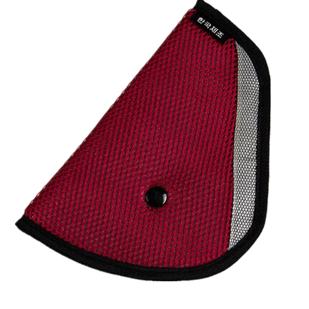 Car Safety Cover Strap Adjuster Pad Harness Seat Belt Clip for Baby Kids (Red) HARRYSTORE
