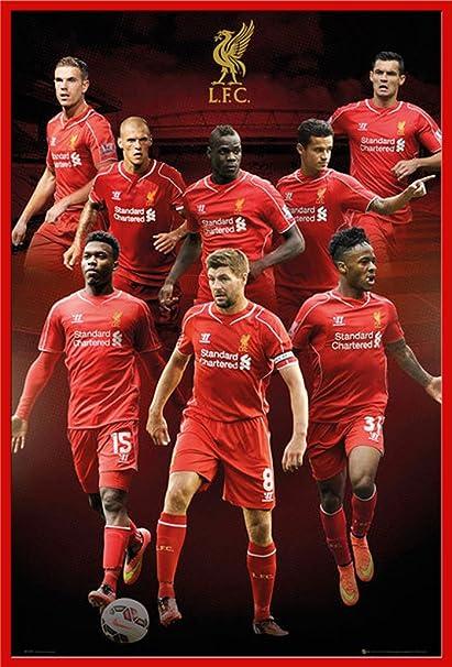 Fussball Liverpool Collage 14 15 Sport Fussball Poster