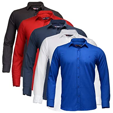 9ef34f696a6 Feed Up Combo of 5 Men s Shirts 42 (Multicolored)  Amazon.in ...