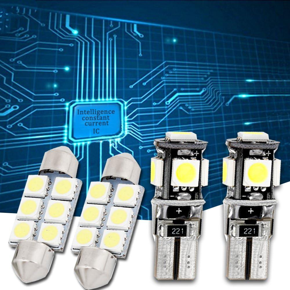 Muchkey Car Led Interior Light Bulb For Bora 1999-2006 Replacement Car Dome Light Bulb Kit 6pcs White