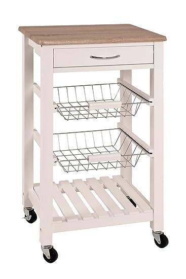 Küchenwagen mit Schubladen, Körben und vielem mehr; Maße (B/T/H) in ...