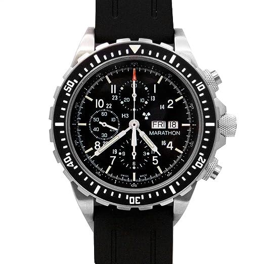 Marathon ww194014 Csar Swiss Made Problema Militar piloto de cronógrafo Reloj automático con el Tritio: MARATHON: Amazon.es: Relojes