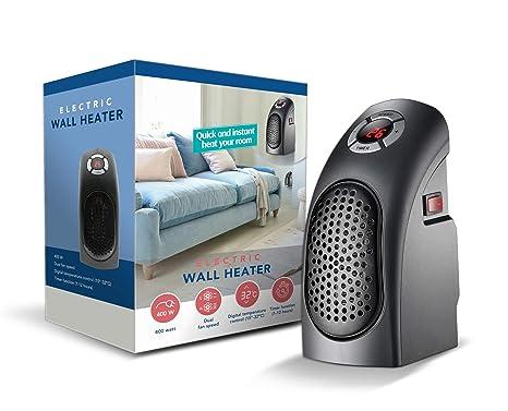 TECHNOSMART® Termoventilador Eléctrico | Calefactor cerámico 400W | Mini Calentador Portátil con Control de Temperatura