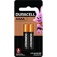 Duracell Specialty AAAA MX2500 Alkaline Battery, 2 Pack