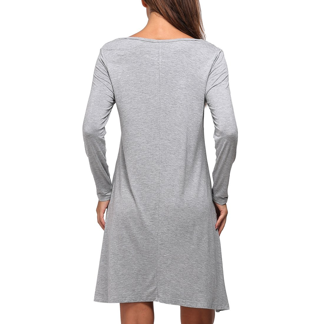 c9d26d96b280 ShiZiBan Plus Size Women's Casual Swing Loose Fit Comfy Flattering Tunic  Tops.Flare Long Sleeve T Shirt Dress at Amazon Women's Clothing store: