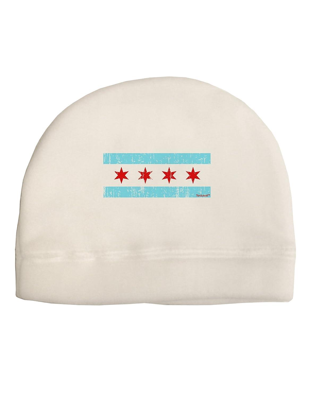 TooLoud Distressed Chicago Flag Design Child Fleece Beanie Cap Hat