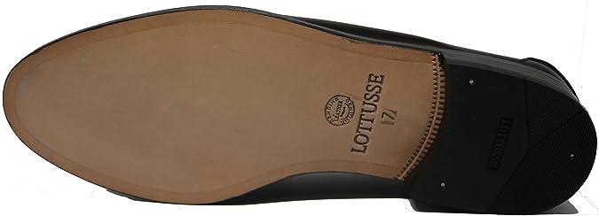 LOTTUSSE 57.Zapato mocasín con Antifaz;Piel de máxima Calidad,Color Burdeos: Amazon.es: Zapatos y complementos