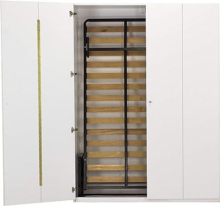 WallBedKing - Cama de pared tamaño king en armario blanco (cama urphy, cama plegable, cama de pared, cama oculta, cama de invitados): Amazon.es: Hogar