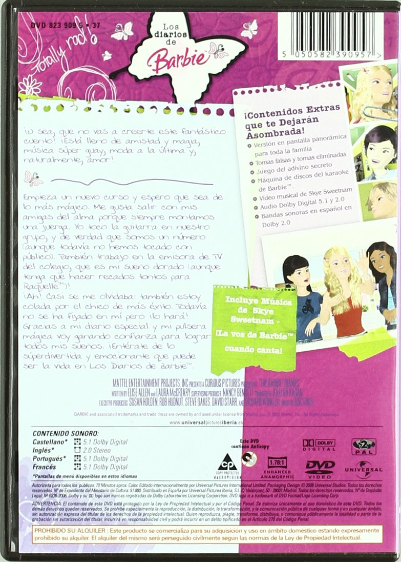 El diario de Barbie (Barbie diaries) [DVD]: Amazon.es: Eric Fogel ...