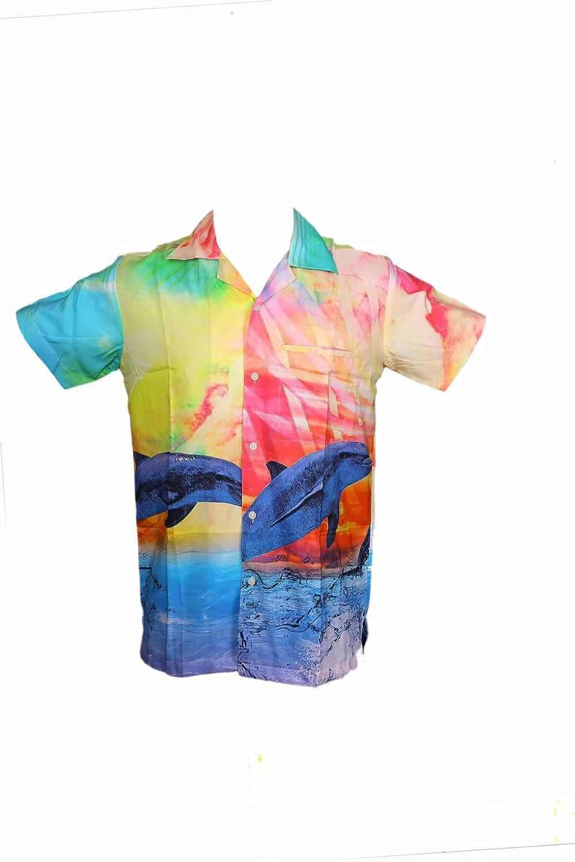 OCHENTA Camisa Hawaiana para Hombre para la Playa, Fiestas, Verano y Vacaciones