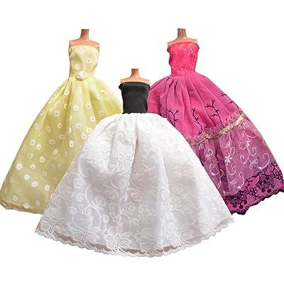 ADM 1003 - Robes de mariée : Cendrillon (3 pièces, sans poupée, convient aux poupées de mode comme, par exemple, Barbie & Steffi Love)