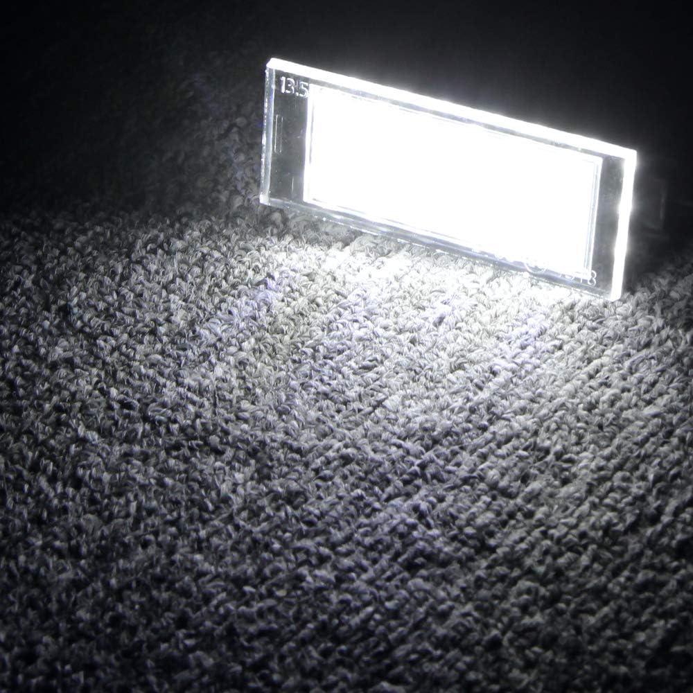Blanco 6000K 2 Piezas Luces de Placa de Matr/ícula Leds L/ámparas Traseras Coche para/Clio Espace Twingo Megane Laguna Vel Satis