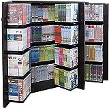 本棚 扉付 コミック400冊収納可能な書棚ストッカー 収納庫 人気 暮らし 本棚 日本製!DVDラック最大400収納 本棚ストッカー収納庫