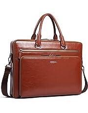 """BOSTANTEN Leather Briefcase Shoulder 15.6""""Laptop Vintage Messenger Bags for Men"""