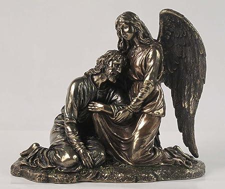 Desconocido 9.25 Pulgadas un ángel reconfortante Jesús en el jardín de getsemaní Estatua: Amazon.es: Hogar