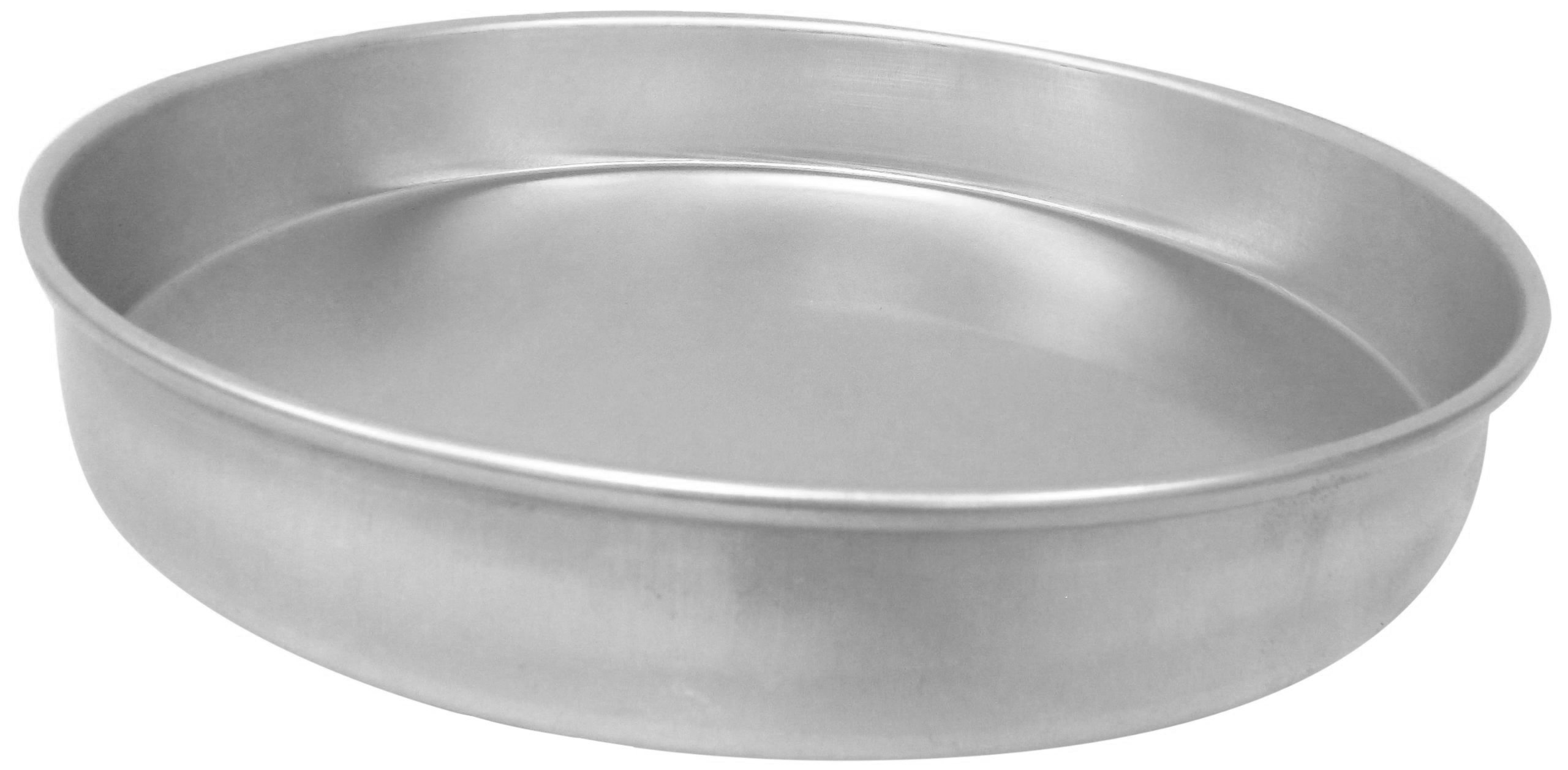 Allied Metal CP17X2 Hard Aluminum Pizza/Cake Pan, Straight Sided, 17 by 2-Inch